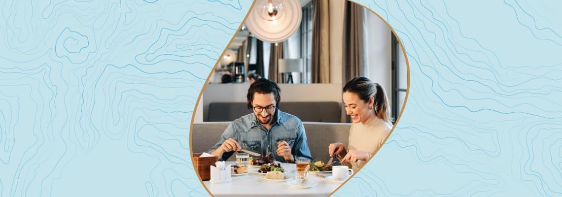 Ночлег + купон на 50 евро* на счет в ресторане для двоих.